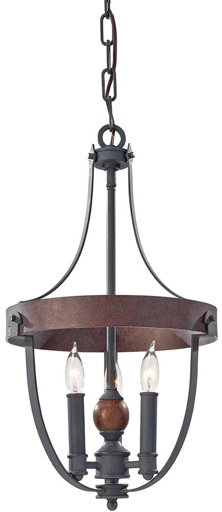 Feiss Alston 3 Light Rustic French Country Cottage Chandelier