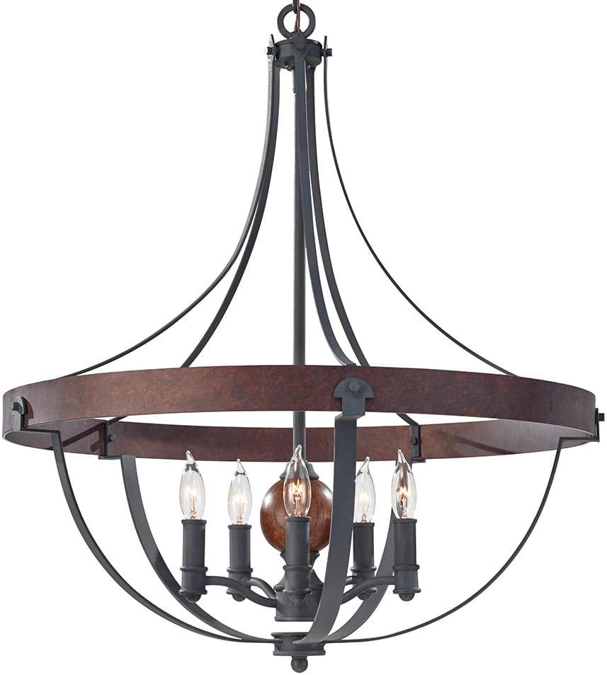 Feiss alston 5 light rustic french country cottage chandelier fealston5 feiss alston 5 light rustic french country cottage chandelier aloadofball Image collections