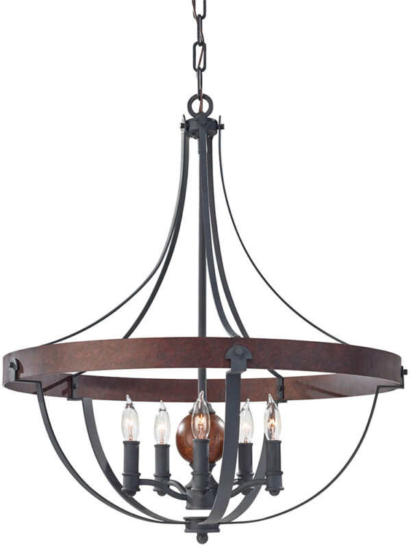 Feiss Alston 5 Light Rustic French Country Cottage Chandelier