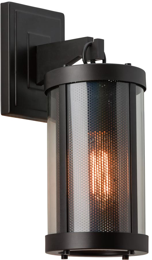 Feiss Bluffton Oil Rubbed Bronze Cosy 1 Light Rustic Wall Lantern