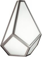 Feiss Diamond Art Deco Design Wall Light Polished Nickel