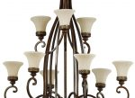 Feiss Drawing Room Huge 18 Light 3 Tier Chandelier Walnut Amber Scavo Glass