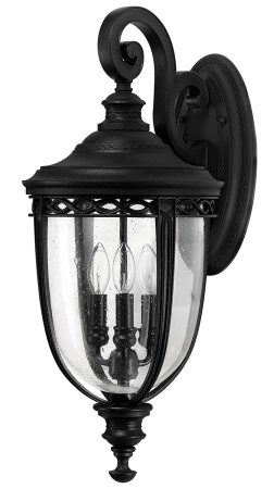 Feiss English Bridle 3 Light Large Outdoor Wall Lantern In Black