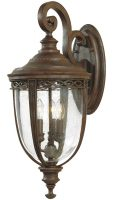 Feiss English Bridle 3 Light Large Outdoor Wall Lantern British Bronze