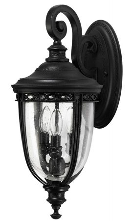 Feiss English Bridle 3 Light Medium Outdoor Wall Lantern In Black