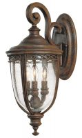 Feiss English Bridle 3 Light Medium Outdoor Wall Lantern British Bronze