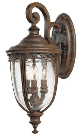 Feiss English Bridle 3 Light Medium Outdoor Wall Lantern British Bronze
