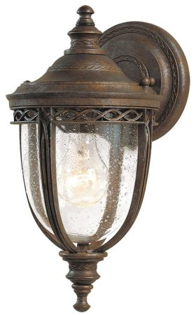 Feiss English Bridle 1 Light Small Outdoor Wall Lantern British Bronze