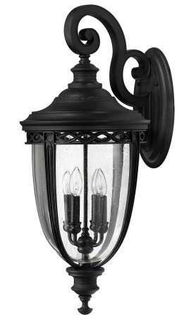 Feiss English Bridle 4 Light Extra Large Outdoor Wall Lantern In Black