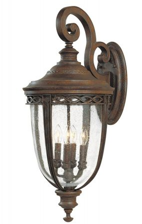 Feiss English Bridle 4 Light Extra Large Outdoor Wall Lantern British Bronze