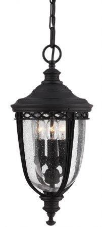 Feiss English Bridle 3 Light Medium Hanging Outdoor Porch Lantern In Black