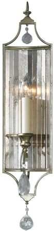 Feiss Gianna Large Gilded Silver 1 Lamp Wall Light