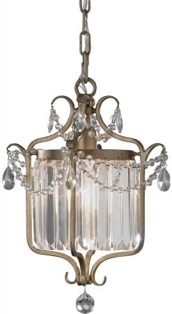 Feiss Gianna Gilded Silver Designer Pendant Light Duo Mount