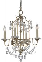 Feiss Gianna Gilded Silver 4 Light Crystal Chandelier Duo Mount