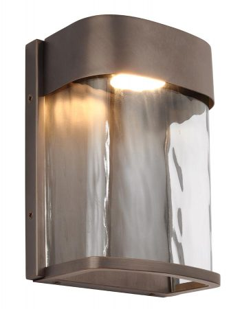 Feiss Bennie 1 Light LED Small Outdoor Wall Lantern Antique Bronze
