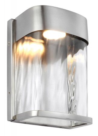 Feiss Bennie 1 Light LED Small Outdoor Wall Lantern Brushed Steel