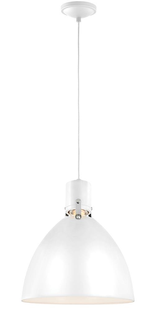 Feiss Brynne Medium LED Pendant Ceiling Light Flat White