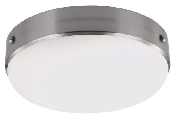 Feiss Cadence 2 Light Flush Mount Ceiling Light Brushed Steel