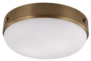 Feiss Cadence 2 Light Flush Mount Ceiling Light Dark Antique Brass
