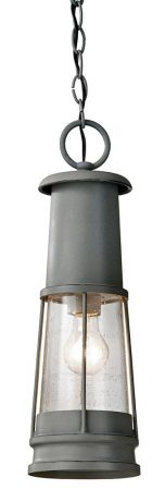 Feiss Chelsea Harbor Hanging Outdoor Porch Lantern Storm Cloud Grey