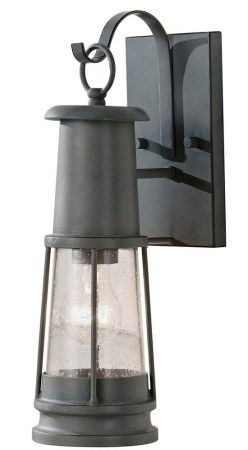 Feiss Chelsea Harbor 1 Light Outdoor Wall Lantern Storm Cloud Grey