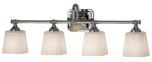 Feiss Concord 4 Light Bathroom Over Mirror Light Opal Glass Shades
