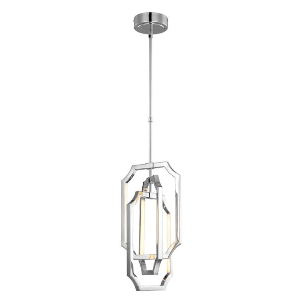 Feiss Audrie Small 6 Light LED Modern Ceiling Pendant Polished Nickel