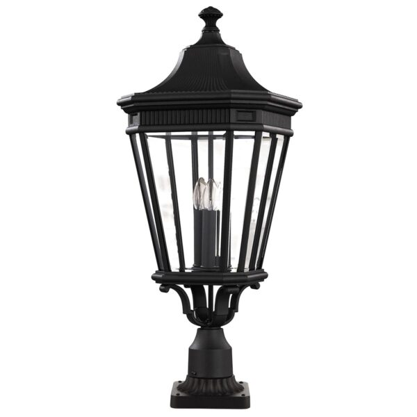 Feiss Cotswold Lane 3 Light Large Outdoor Post Top Lantern In Black