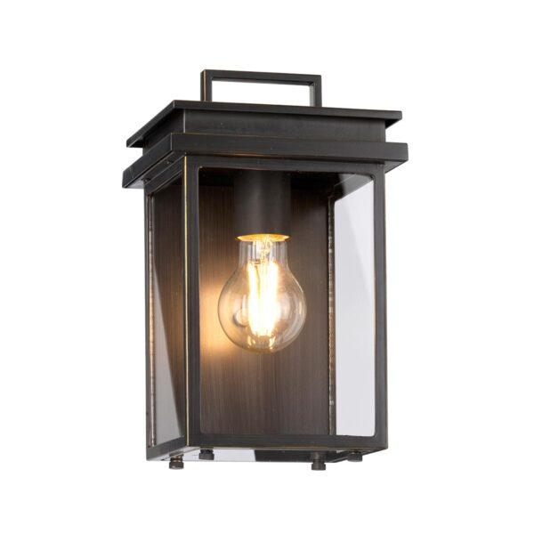 Feiss Glenview Antique Bronze 1 Light Small Outdoor Wall Box Lantern