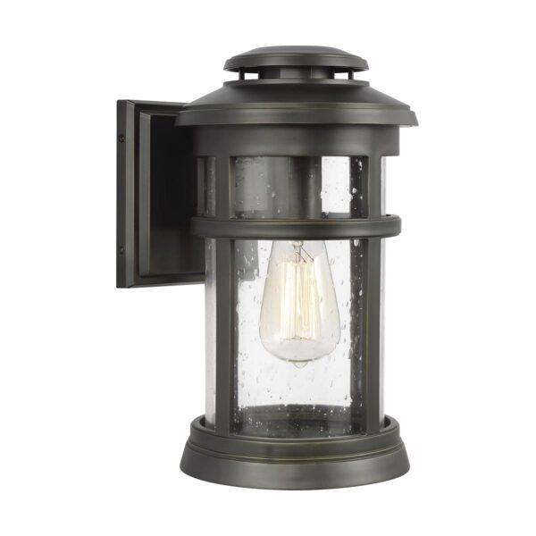 Feiss Newport 1 Light Medium Outdoor Wall Lantern Antique Bronze