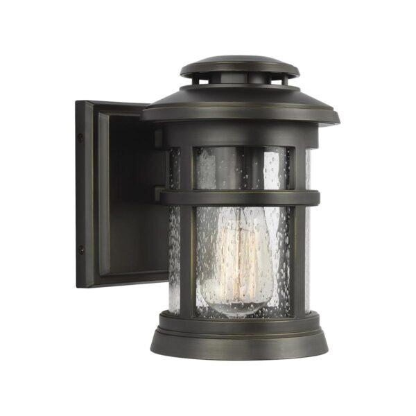 Feiss Newport 1 Light Small Outdoor Wall Lantern Antique Bronze