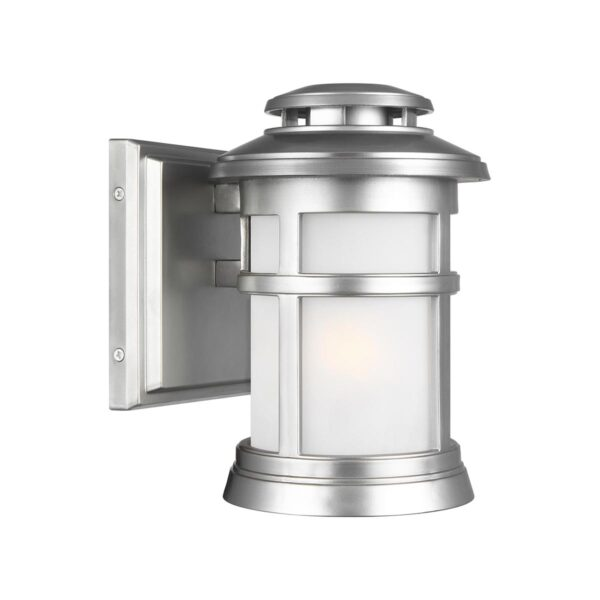 Feiss Newport 1 Light Small Outdoor Wall Lantern Brushed Silver