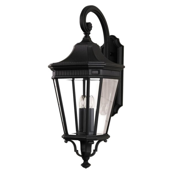 Feiss Cotswold Lane 3 Light Large Outdoor Wall Lantern In Black