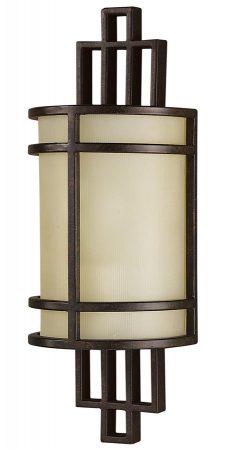 Feiss Fusion Flush 1 Light Wall Light Grecian Bronze