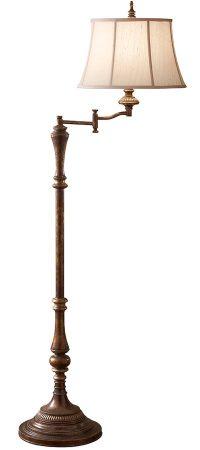 Feiss Gibson 1 Light Swing Arm Floor Lamp Cambridge Crackle