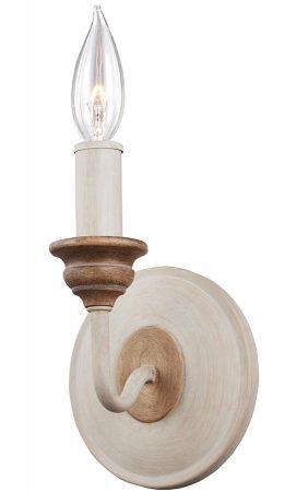 Feiss Hartsville 1 Light Wall Lamp Chalk Washed Farmhouse Style