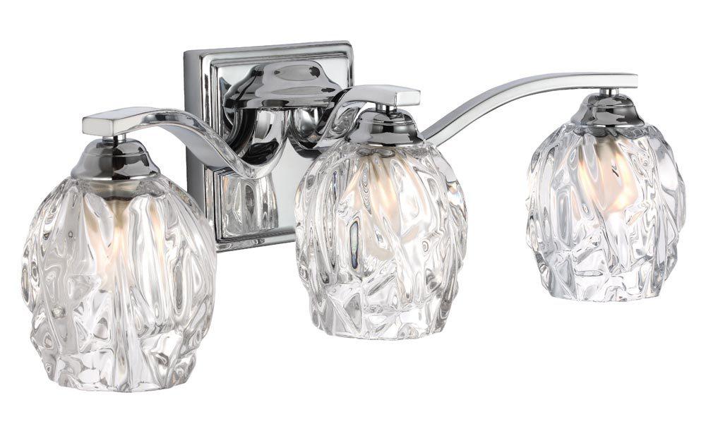 Feiss Kalli Chrome 3 Light LED Bathroom Over Mirror Light