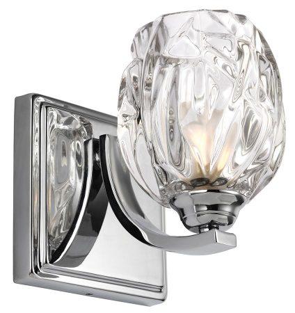 Feiss Kalli Polished Chrome LED Bathroom Wall Light Crystal Shade
