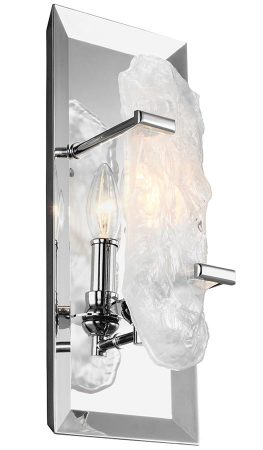 Feiss Katerina Single Wall Light Polished Chrome Sculpted Glass