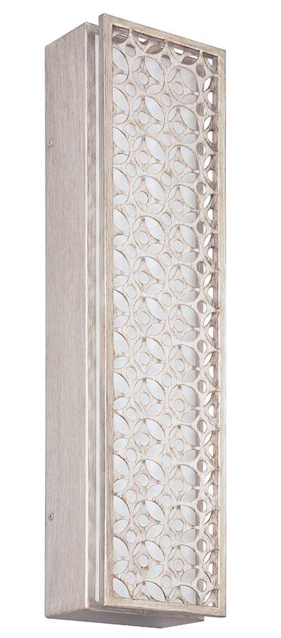 Feiss Kenney 4 Light LED Wall Light Sunrise Silver White Linen Shade