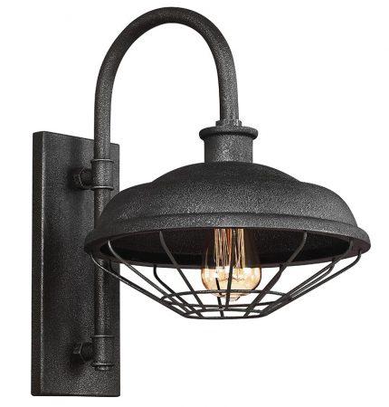 Feiss Lennex 1 Lamp Industrial Wall Light Slated Grey