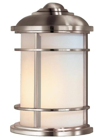 Feiss Lighthouse 1 Light Half Outdoor Wall Lantern Brushed Steel IP44