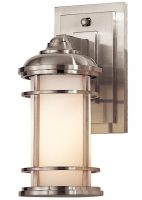 Feiss Lighthouse 1 Light Small Outdoor Wall Lantern Brushed Steel IP44