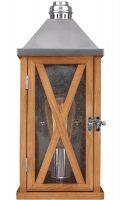 Feiss Lumiere 1 Light Small Outdoor Wall Lantern Natural Oak Wood