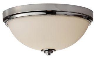 Feiss Malibu Flush Mount 2 Light Bathroom Ceiling Light Polished Chrome IP44