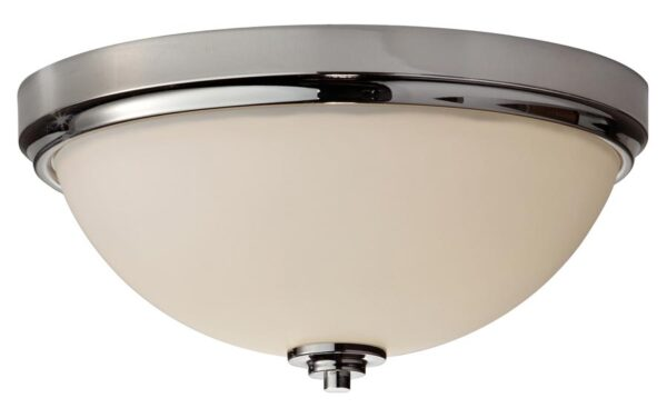 Feiss Malibu Flush Mount 2 Light Bathroom Ceiling Light Polished Chrome IP44