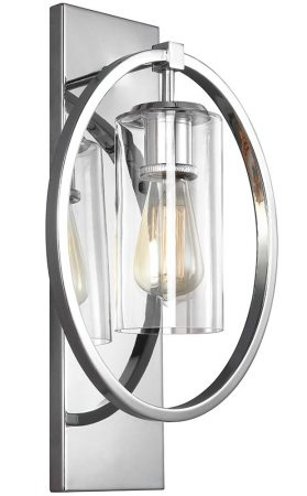Feiss Marlena 1 Lamp Wall Light Polished Chrome