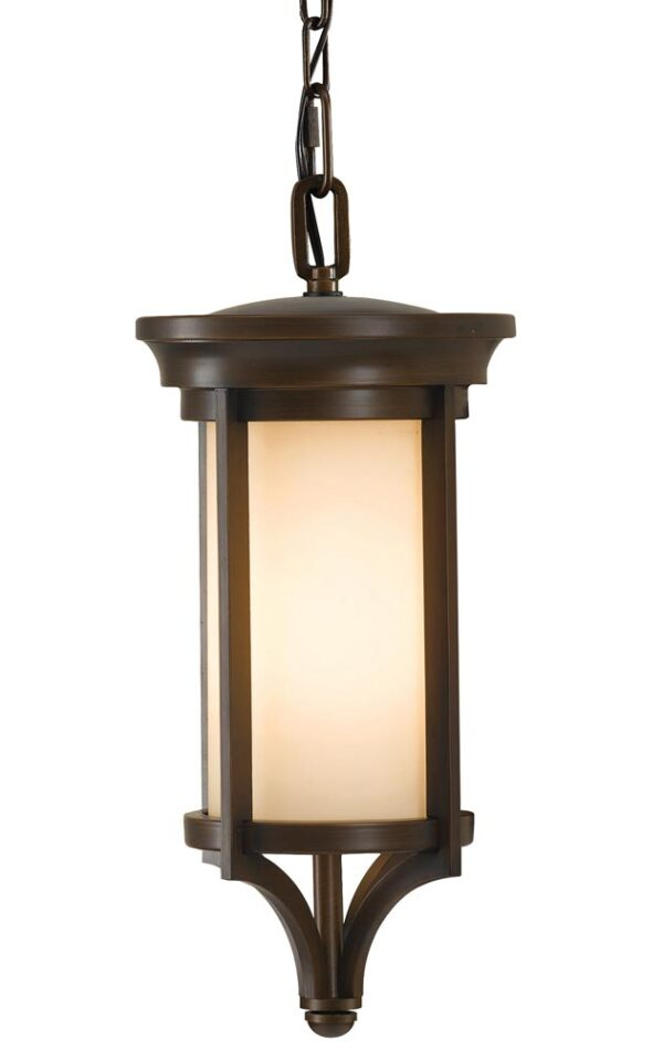 Feiss Merrill Small Hanging Outdoor Porch Lantern Heritage Bronze