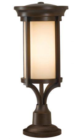 Feiss Merrill 1 Light Small Outdoor Pedestal Lantern Heritage Bronze