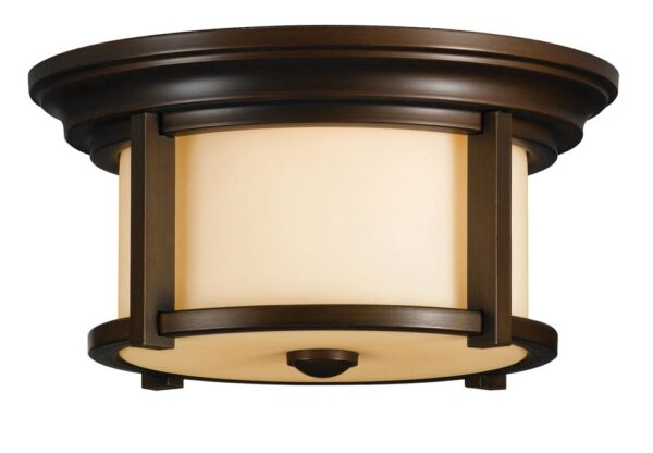 Feiss Merrill 2 Light Flush Outdoor Porch Lantern Heritage Bronze